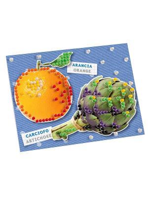 Пиксельная мозаика серии Сад Зима Quercetti. Цвет: синий, зеленый, красный, желтый, белый, черный