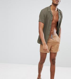 ASOS Коричневые короткие шорты для плавания TALL. Цвет: коричневый