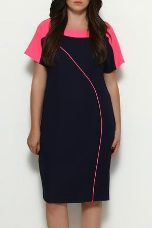 Платье Ludomara fashion. Цвет: navy and fuchsia