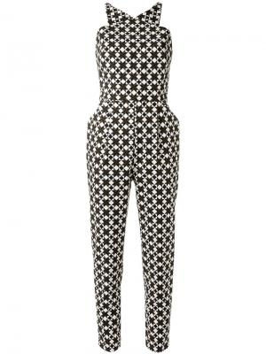 All-over print jumpsuit Andrea Marques. Цвет: коричневый