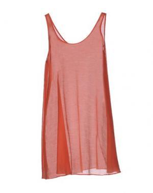 Короткое платье DEVOTION. Цвет: коралловый