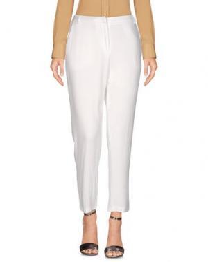 Повседневные брюки FEDERICA TOSI. Цвет: белый