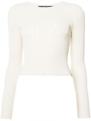 Блузка с ребристой фактурой Derek Lam. Цвет: белый
