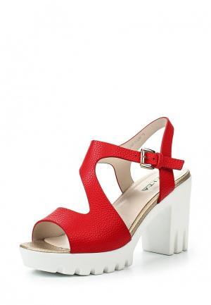 Босоножки Evita. Цвет: красный