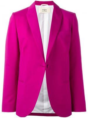 Однобортный пиджак Ports 1961. Цвет: розовый и фиолетовый