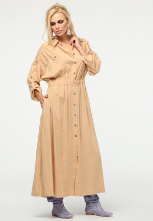 Платье Kata Binska. Цвет: бежевый