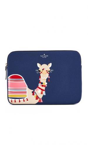 Чехол с изображением верблюда для ноутбука диагональю экрана 13 дюймов Kate Spade New York. Цвет: синий мульти