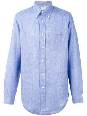 Рубашка Milano Brooks Brothers. Цвет: синий