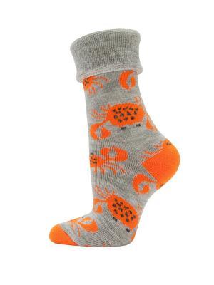 Махровые носки HOSIERY. Цвет: оранжевый