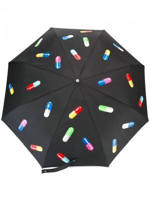Зонт с принтом капсул Moschino. Цвет: чёрный