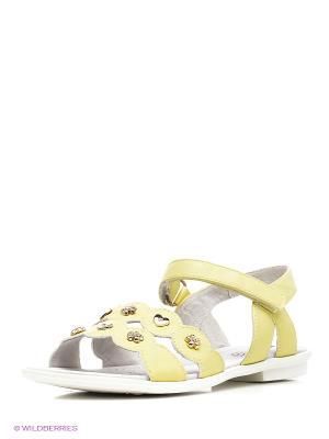 Сандалии KEDDO. Цвет: желтый, белый