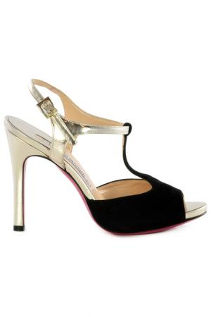 High-heels sandals Luciano Padovan. Цвет: black and cream