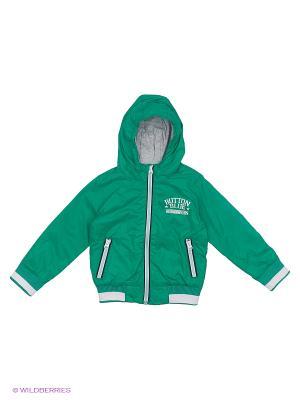Куртка (Ветровка) Button Blue. Цвет: зеленый