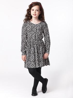Платье Vilatte. Цвет: светло-бежевый, черный
