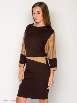 Платье МадаМ Т. Цвет: темно-коричневый, коричневый