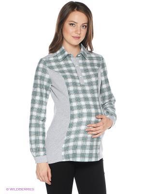 Блузка One plus. Цвет: серый