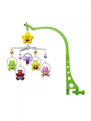 Карусель музыкальная мишки и зайчики Lorelli Toys. Цвет: темно-фиолетовый,коричневый,голубой