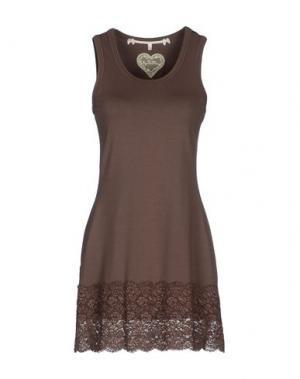 Короткое платье by TiMo. Цвет: какао