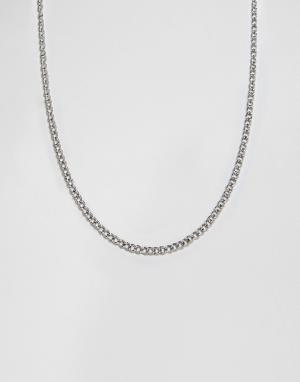 Icon Brand Серебристое ожерелье-цепочка. Цвет: серебряный
