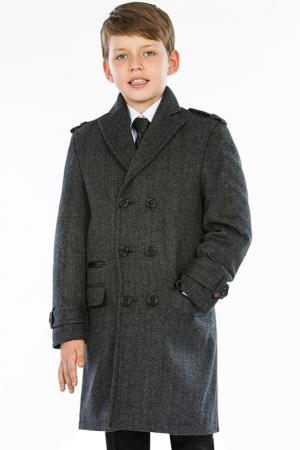 Пальто TUGI KIDS. Цвет: серый
