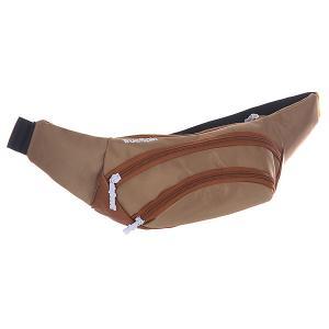 Сумка поясная  Wisst Bag F.bottom Beige/Brown TrueSpin. Цвет: коричневый,бежевый