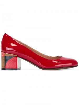 Туфли на каблуках-столбиках LAutre Chose L'Autre. Цвет: красный