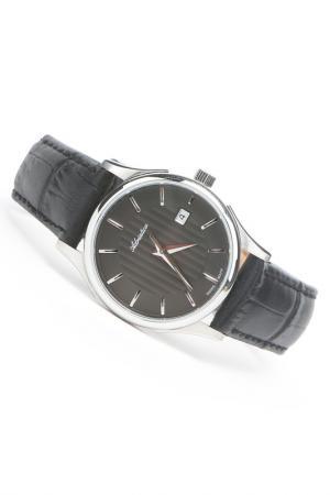 Часы наручные Adriatica. Цвет: черный, стальной