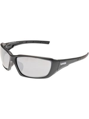 Солнцезащитные очки Uvex. Цвет: черный