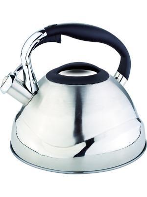 Чайник со свистком 3л. RAINSTAHL. Цвет: черный