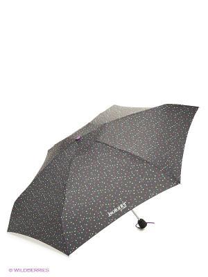 Зонт Isotoner. Цвет: черный, белый, красный, синий