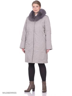 Пальто VIKO. Цвет: светло-серый
