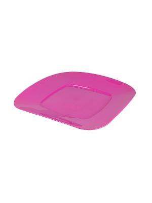 Тарелка для торта Migura. Цвет: розовый