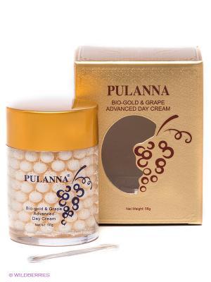 Дневной защитный крем Bio-gold &Grape Advanced PULANNA. Цвет: золотистый