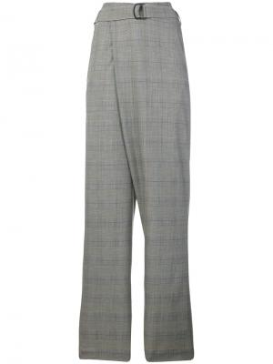 Клетчатые брюки Christian Wijnants. Цвет: серый