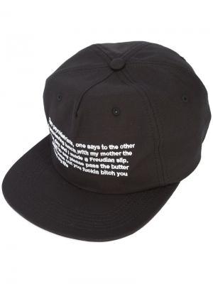 Бейсбольная кепка с текстовым принтом Enfants Riches Déprimés. Цвет: чёрный