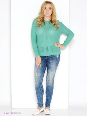 Джемпер Milana Style. Цвет: зеленый, морская волна