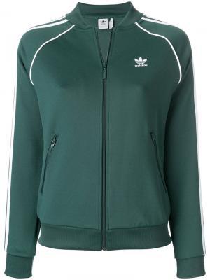 Спортивная куртка  Originals Superstar Adidas. Цвет: зелёный