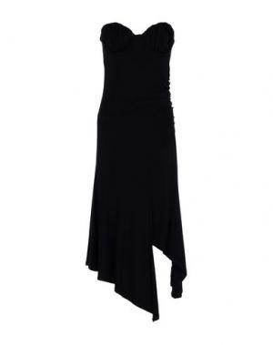 Платье до колена LORELLA SIGNORINO. Цвет: черный