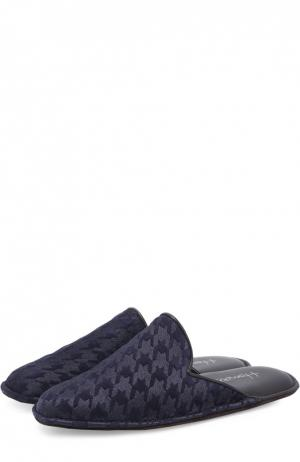 Домашние туфли с узором houndstooth Homers At Home. Цвет: темно-синий