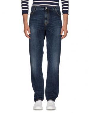 Джинсовые брюки LUIGI BORRELLI NAPOLI. Цвет: синий
