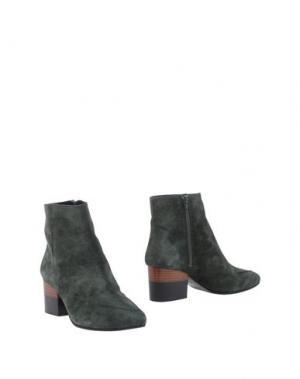 Полусапоги и высокие ботинки MEGUMI OCHI. Цвет: темно-зеленый