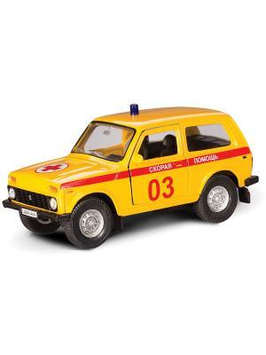 Машина LADA 4x4 скорая помощь AUTOTIME. Цвет: желтый