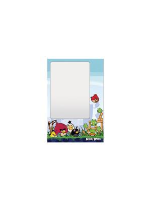 Доска маркерная + маркер А3 Angry Birds. Цвет: бирюзовый