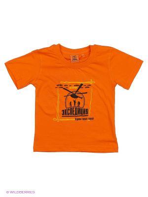 Футболка оранжевая детская Сливка общества Экспедиция. Цвет: оранжевый