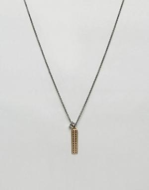 Icon Brand Золотистое ожерелье премиум с подвеской-клыком. Цвет: золотой