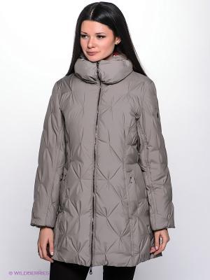 Куртка WEGA. Цвет: серо-коричневый