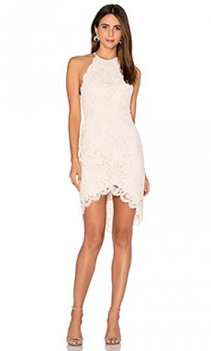 Мини-платье на бретельках affinity Lover. Цвет: румянец