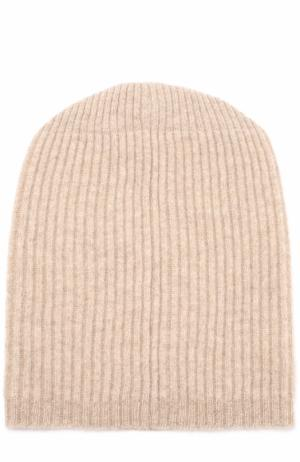 Кашемировая шапка бини Tegin. Цвет: бежевый