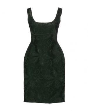 Короткое платье HERVE' L. LEROUX. Цвет: зеленый