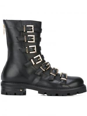 Ботинки с ремешками на пряжке Cesare Paciotti. Цвет: чёрный